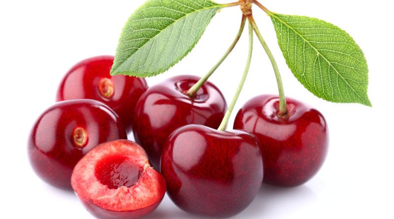 Ripe cherry in closeup