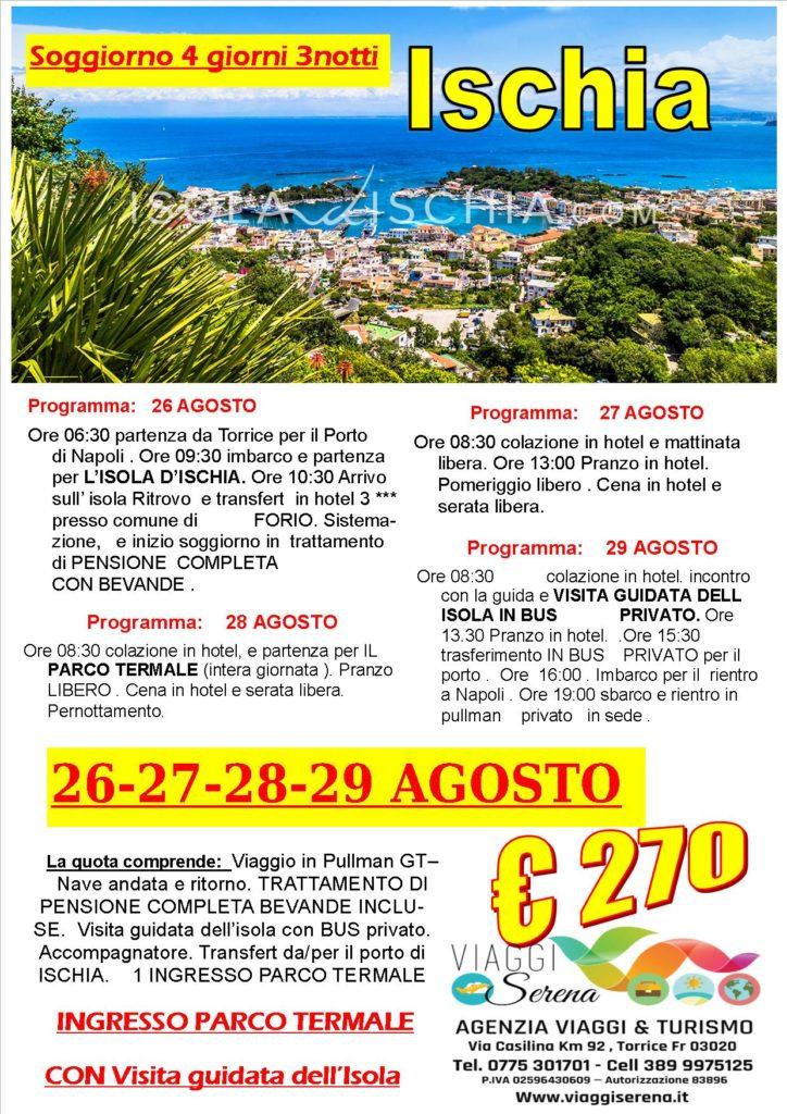 Viaggi di Gruppo : Soggiorno ISCHIA 26-27-28-29 AGOSTO € 270,00 ...