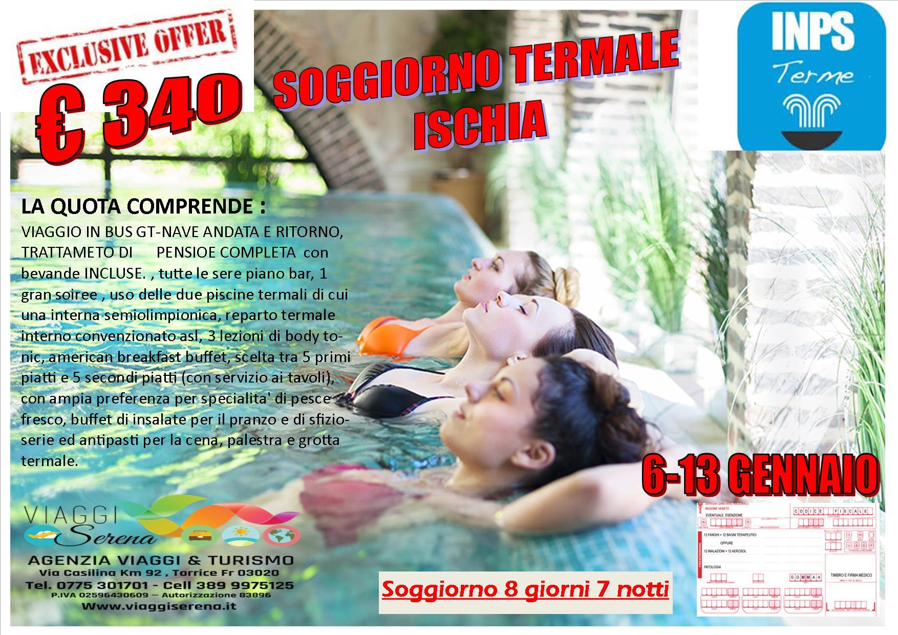 soggiorno terme ISCHIA 2019 - Viaggi Serena